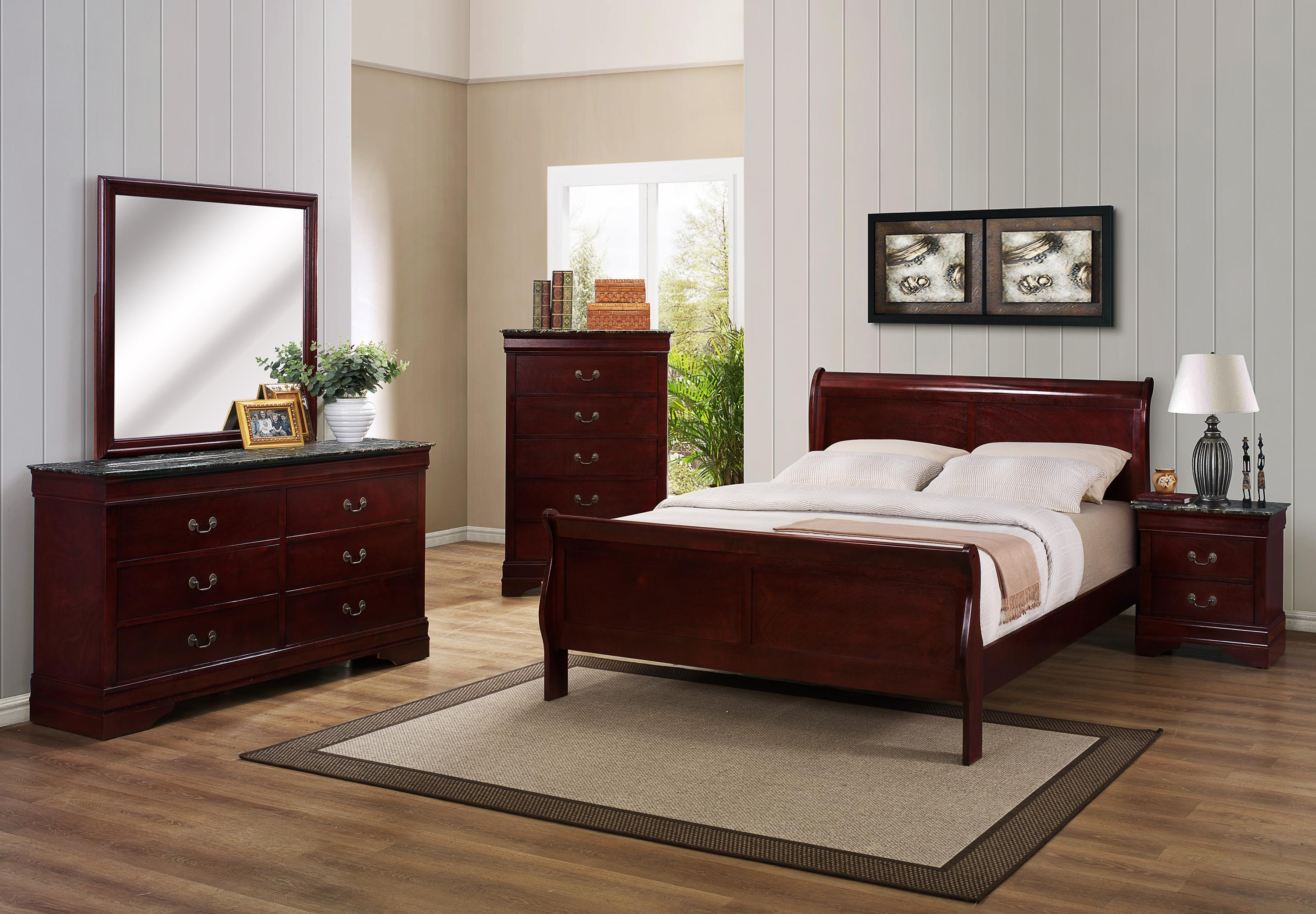 Crown Mark B3800 Louis Phillipe Full Bedroom Group - Item Number: B3800 Full Bedroom 2