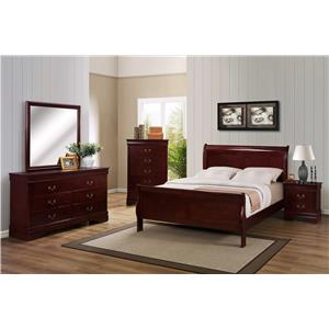 Crown Mark B3800 Louis Phillipe Queen Bedroom Group