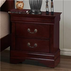 Crown Mark B3800 Louis Phillipe 2-Drawer Nightstand