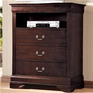 Crown Mark B3800 Louis Phillipe Media Chest