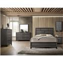 CM B4620 Akerson Grey 4pc Queen Bedroom Set - Item Number: B4620