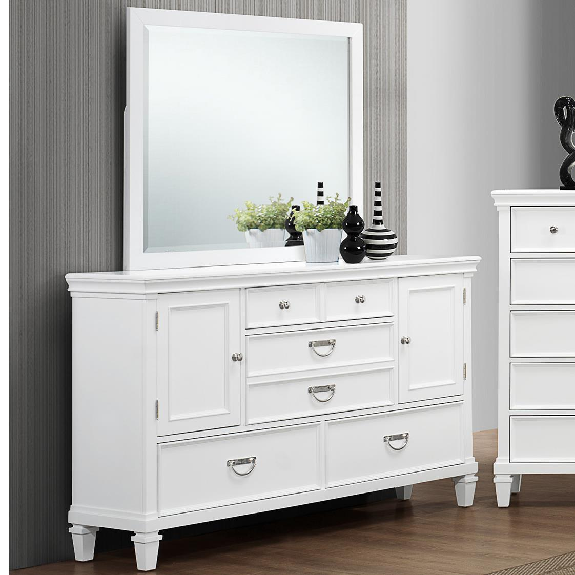 Crown Mark Hannah Dresser and Mirror Set - Item Number: B9100-11+1