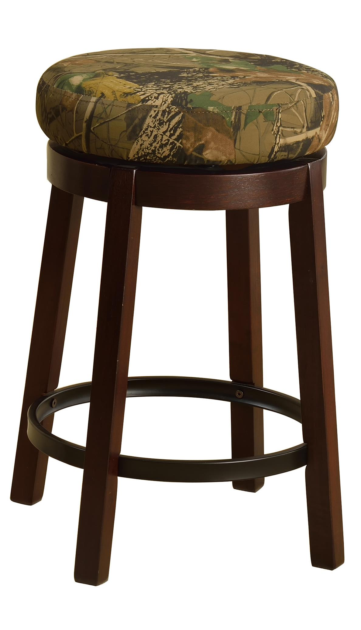 Crown Mark Bar Stools Low Swivel Stool - Item Number: 2794S-24-CAMO