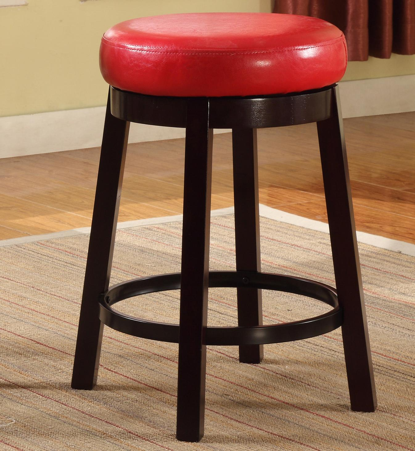 Crown Mark Bar Stools Low Swivel Stool - Item Number: 2794S-24-RD