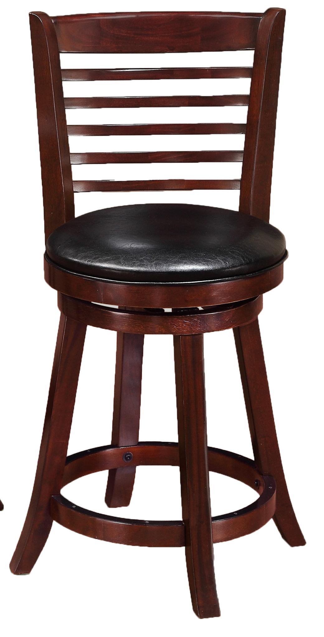 Crown Mark Bar Stools Low Swivel Chair - Item Number: 2796C-24