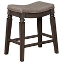 Crown Mark Bar Stools CM Counter Height Bar Stool - Item Number: 2784C-24-GY