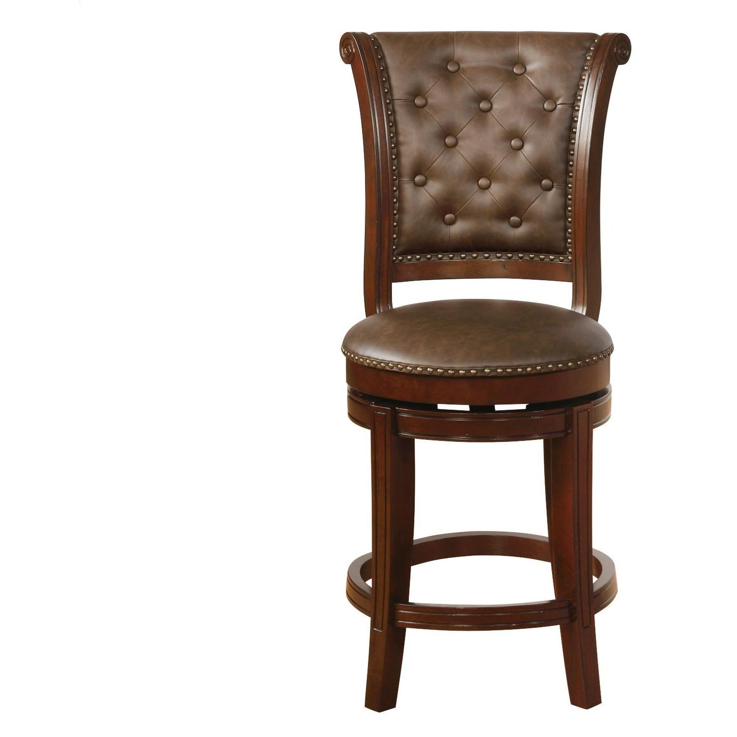 Crown Mark Bar Stools Cm Traditional Swivel Counter Height