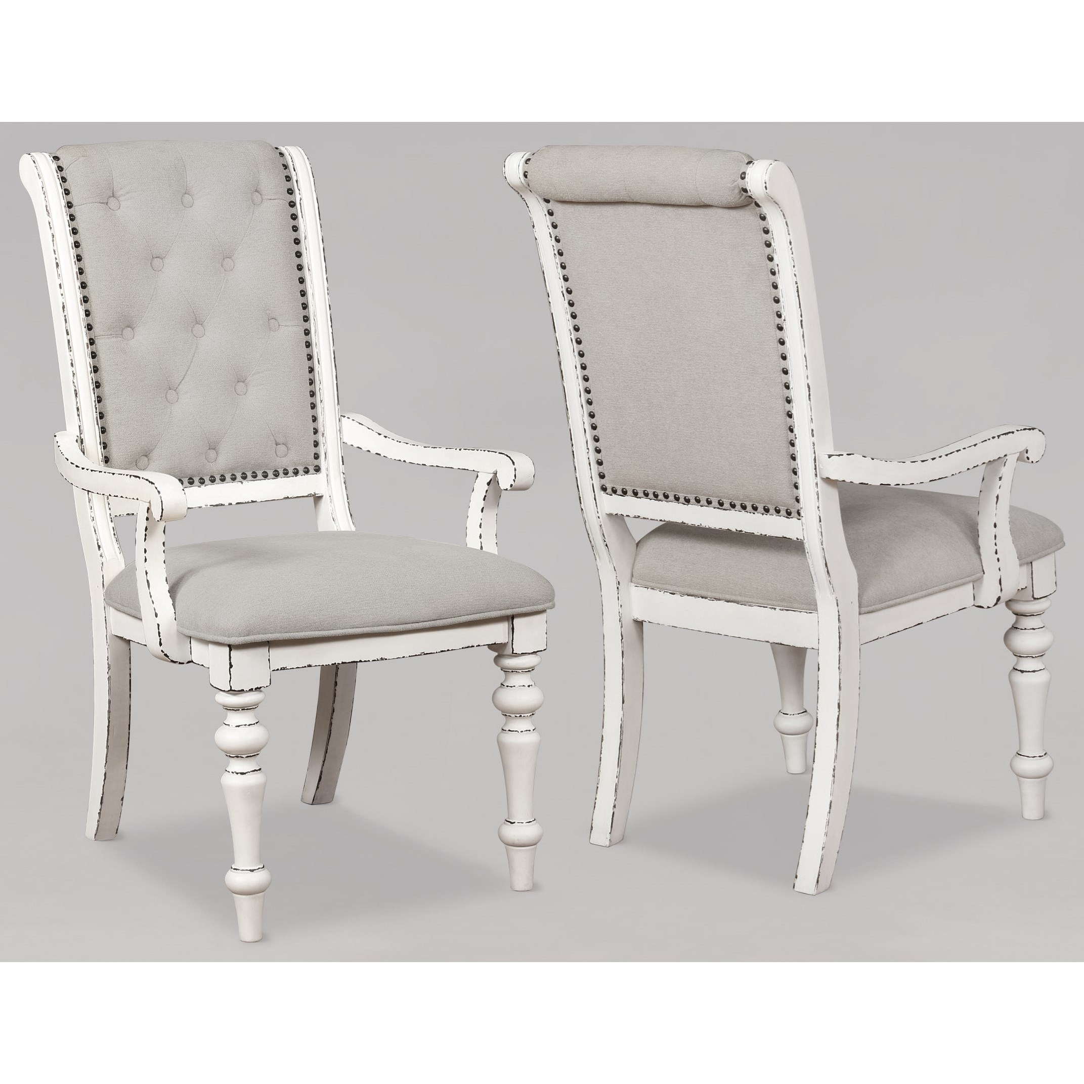Bardot Dining Arm Chair by Crown Mark at Northeast Factory Direct