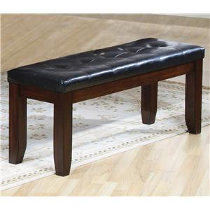 Crown Mark Bardstown Bench with Leather-Look Seat