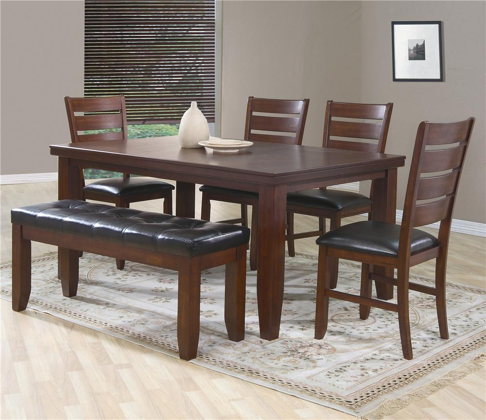 Crown Mark Bardstown 6 Piece Dining Set w/ 4 Chairs & Bench - Item Number: 2157-5PC1B