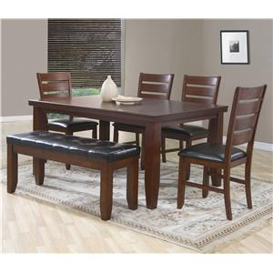Great Crown Mark Bardstown 6 Piece Dining Set W/ 4 Chairs U0026 Bench