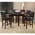 Crown Mark Bardstown Counter Height Chair with Upholstered Seat - Shown as part of table set