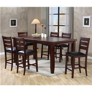 Rectangular Counter Height Table Set