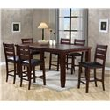 Crown Mark Bardstown Rectangular Counter Height Table Set - Item Number: 2752T-4278+6x2752S-24