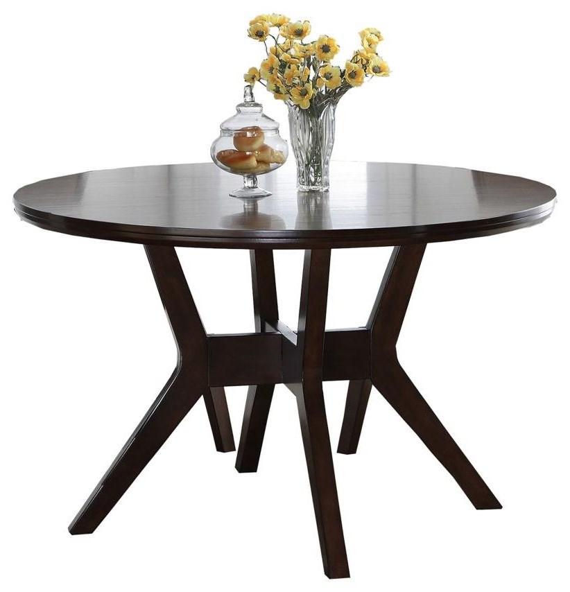 Royal Fair Barney Mid Century Modern Round Dining Table Ruby Gordon Home Dining Tables
