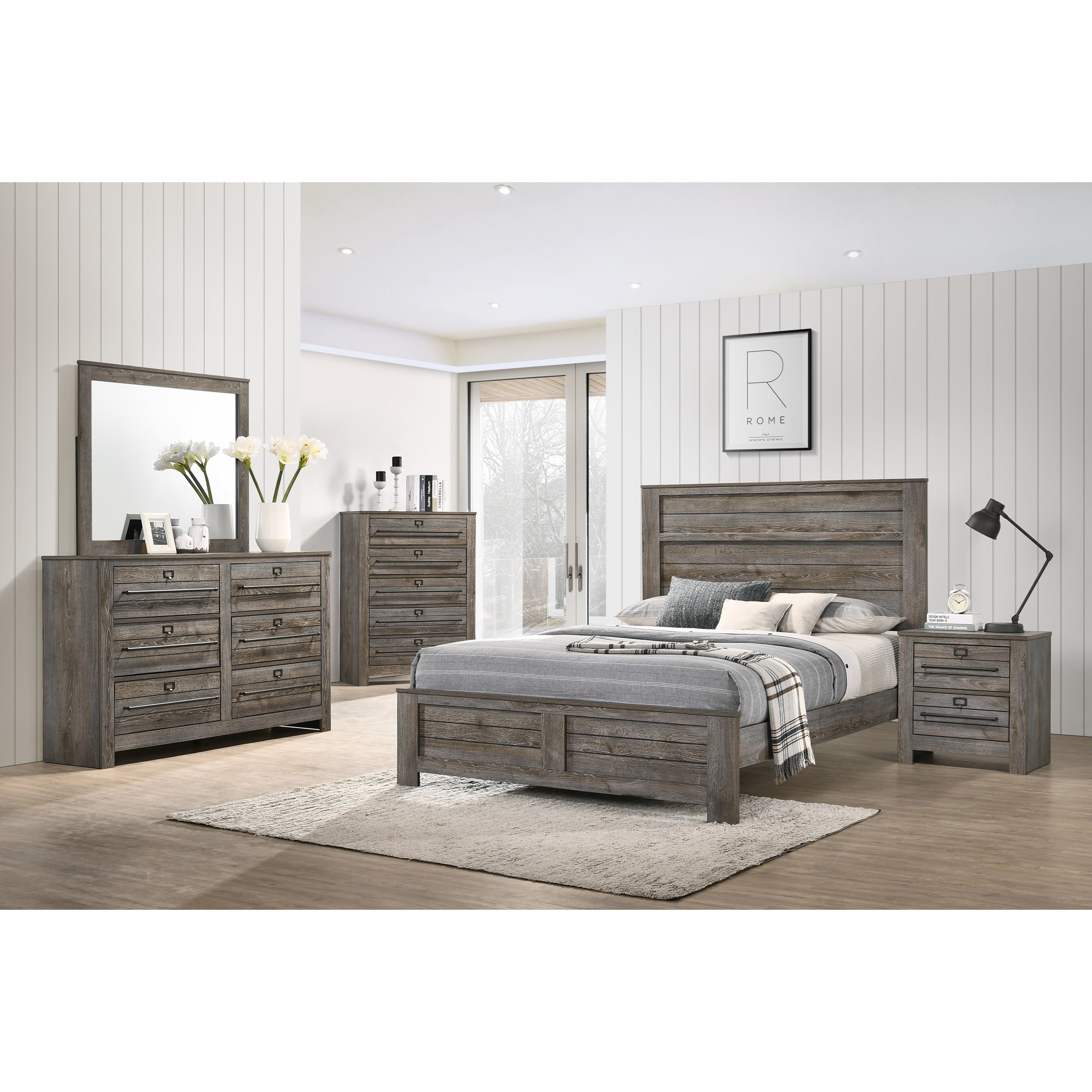 Bateson King Bedroom Group by Crown Mark at Northeast Factory Direct