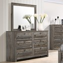 Crown Mark Bateson Dresser and Mirror - Item Number: B6960-1+B6960-11