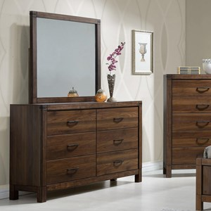 Crown Mark Belmont Dresser and Mirror Set