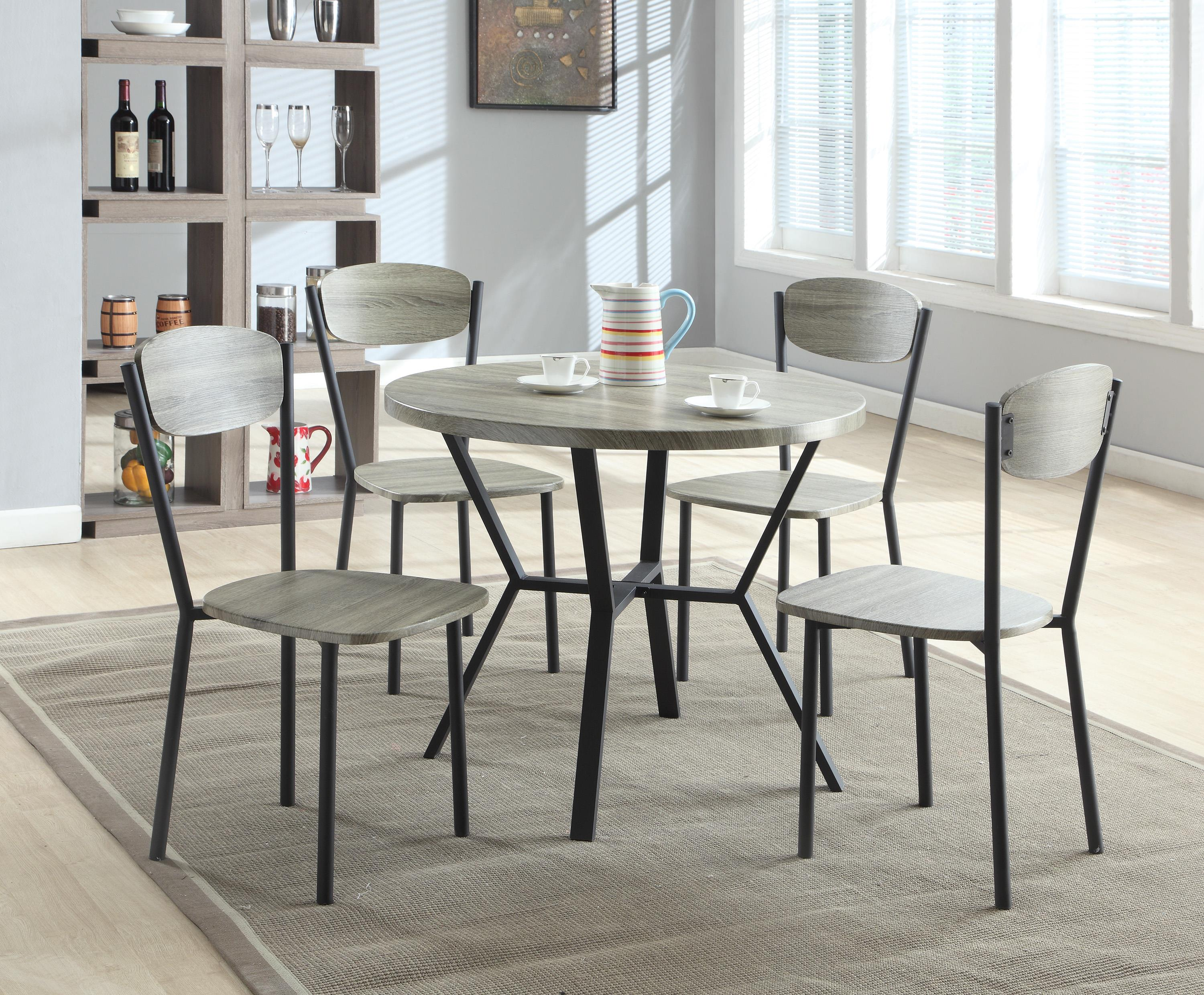 Crown Mark Blake 5 Piece Dining Set - Item Number: 1230SET-GY