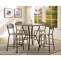 Crown Mark Blake 5 Piece Counter Height Dinette Set - Item Number: 1730SET-GY