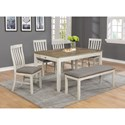 Crown Mark Nina Table & Chair Set with Bench - Item Number: 2217T-3660+4xS+BENCH