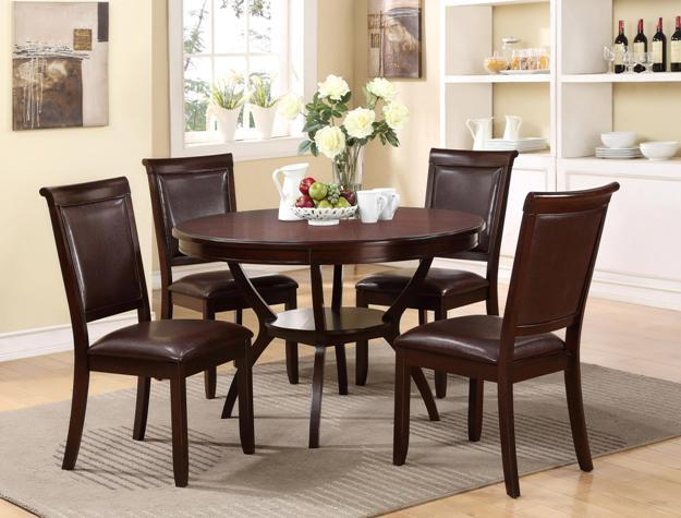 Crown Mark Brooke 5 Piece Dining Table and Chair Set - Item Number: 2519SET