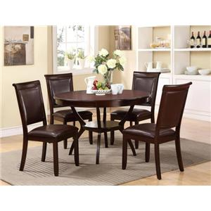 Crown Mark Brooke 5 Piece Dining Table and Chair Set