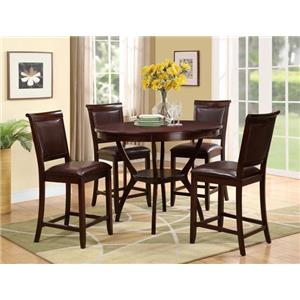 Crown Mark Brooke 5 Piece Counter Height Table Set