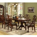 Crown Mark Brussels Dining Table and Chair Set - Item Number: 2470T-4296+2xA+4x+S