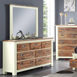 Crown Mark Buckley Dresser and Mirror Set