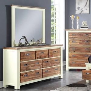Crown Mark Buckley Dresser and Mirror Set
