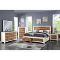 Crown Mark Buckley Two-Toned Dresser with Seven Drawers