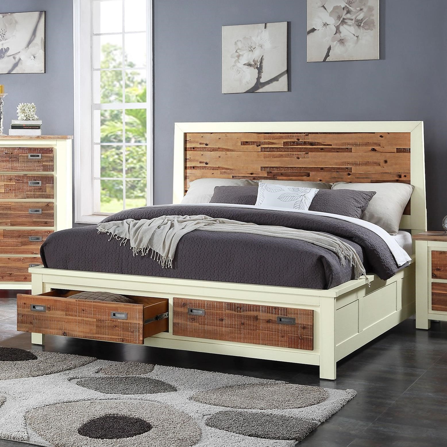 Crown Mark Buckley Queen Headboard and Footboard - Item Number: B1200-Q-HB+Q-FBD+KQ-RAIL