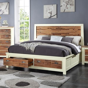 Crown Mark Buckley Cal King Headboard and Footboard