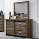 Rooms Collection One Calhoun Dresser and Mirror Combo - Item Number: B3000-1+11
