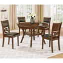 Crown Mark Cally 5 Piece Dining Set - Item Number: 2216T-48+4xS