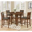 Crown Mark Cally 5 Piece Counter Height Dining Set - Item Number: 2716T-42+4xS-24