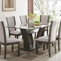 Crown Mark Camelia Grey Dining Table - Item Number: 1210GY-4272-LEG+BAS+1210T-4272-GL