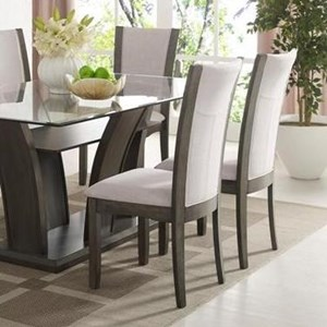 Crown Mark Camelia Grey Dining Side Chair