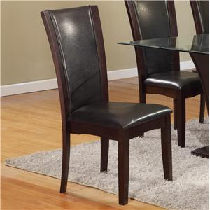 Crown Mark Camelia Espresso Dining Side Chair