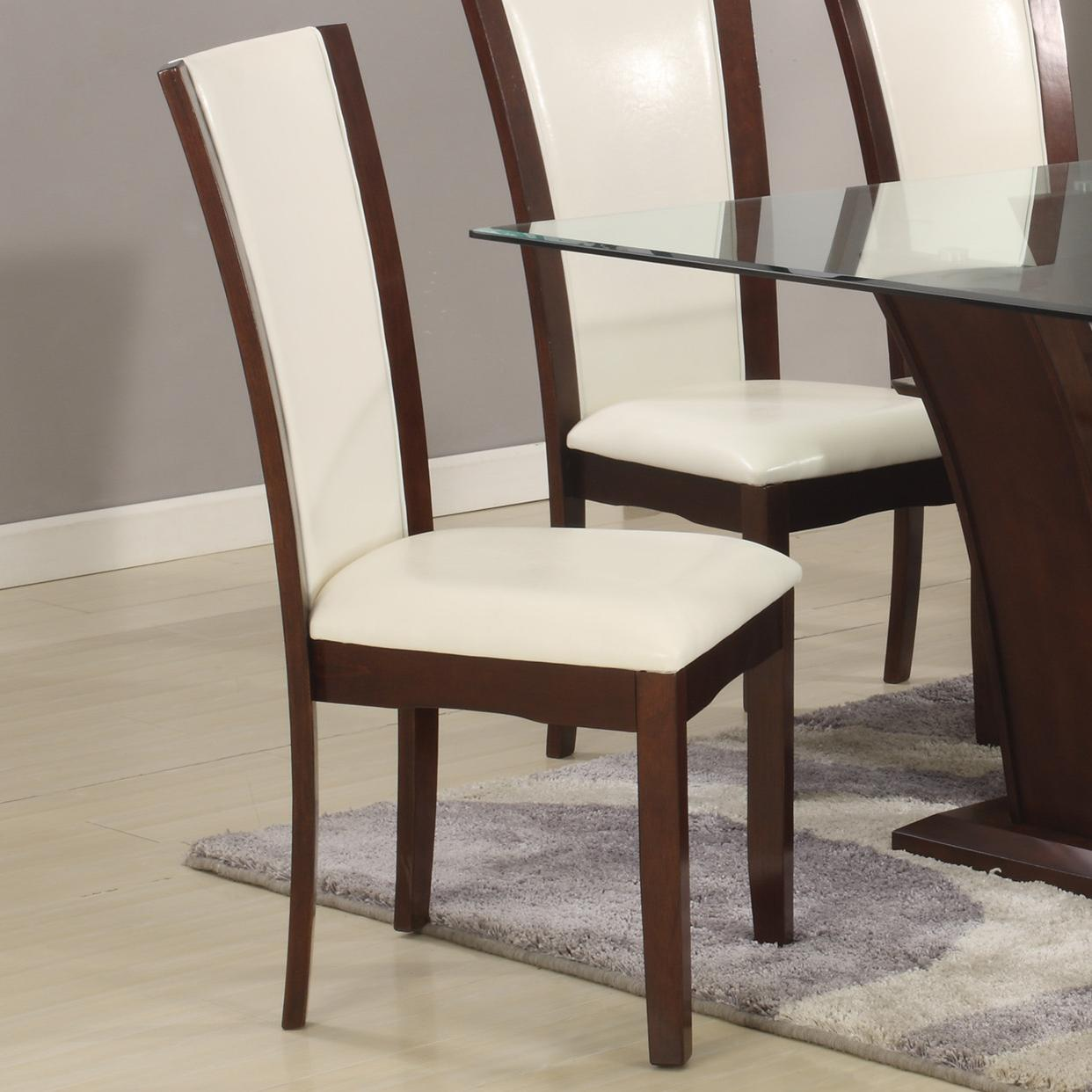 Crown Mark Camelia Dining Side Chair - Item Number: 1210S-WH