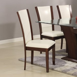 Crown Mark Camelia White Dining Side Chair