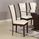 Crown Mark Camelia White Dining Side Chair - Item Number: 1210S-WH