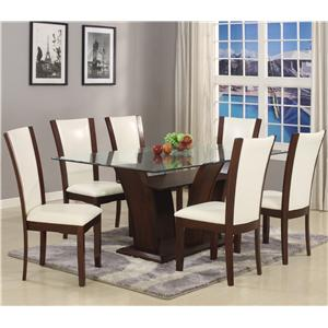 Crown Mark Camelia 7 Piece Table & Chair Set