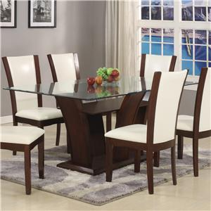 Crown Mark Camelia White Dining Table