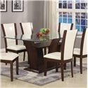 Crown Mark Camelia Dining Table - Item Number: 1210T-4272-BASE+LEG+GL
