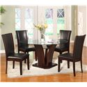 Crown Mark Camelia 5 Piece Espresso Round Table & Chair Set