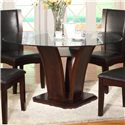 Crown Mark Camelia Round Dining Table - Item Number: 1210T-54-BASE+LEG+GL-54