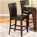 Crown Mark Camelia Espresso Counter Height Stool - Item Number: 1710S-24-ESP