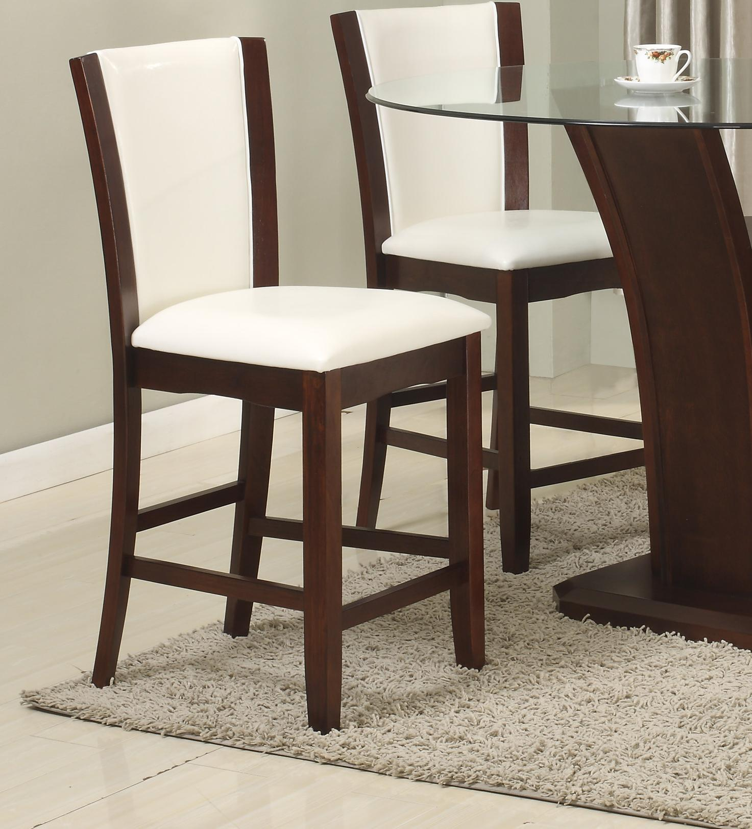 Crown Mark Camelia White Counter Height Stool - Item Number: 1710S-24-WH